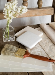 White interior decoration plan