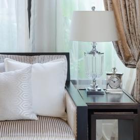 white pillow on sofa in luxury livingroom